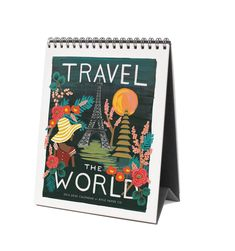 2016 Travel the World Desk Calendar - Features 12 Original Illustrations - Rifle Paper Co. (CW 12/15)