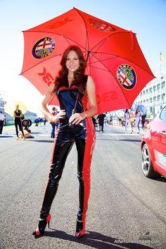 The beautiful girls of Alfa Romeo.