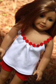 Top and Cut-Off Shorts for American Girl AG Dolls - Avanna Girl