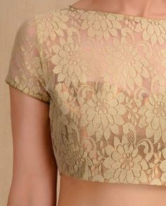 Floral Lace Golden Blouse- Buy Sari Blouses,Indian Essentials,Sari Blouses,Feb Best Sellers Online | Exclusively.in