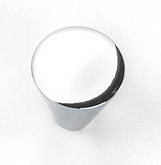 Laurey Cabinet Knobs, 1 Large Cone Knob- Polished Chrome