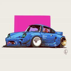 Retrowave car by Fernando Correa Design Autos, Cool Car Drawings, Street Racing Cars, Car Vector, Car Illustration, Futuristic Cars, Automotive Art, Car Wallpapers, Cyberpunk Art