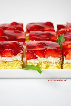 Polish Desserts, Polish Recipes, Sweet Recipes, Cake Recipes, Dessert Recipes, Canning Recipes, Baking Tips, Food And Drink, Cooking