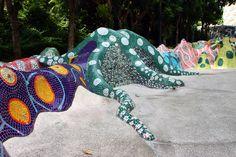 Mosaic Art - Mosaic Art In Public Space - Inspired By Park Guell - Sentosa Mosaic Walkway   #Mozaico