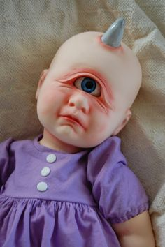 Baby Cyclops - Etsy listing at https://www.etsy.com/listing/228951618/cyclops-ooak-art-doll