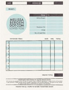 Simple A4 Invoice | Pinterest | A4, Template and Business