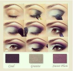 velvety smoky plum eye make up