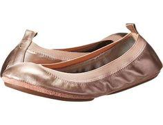 Yosi Samra Samara Metallic Leather Women's Flat Shoes Rose Gold : 7 M