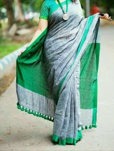 Pure Lenin sarees PRICE:2550+ shipping Order what'sapp 919573737490