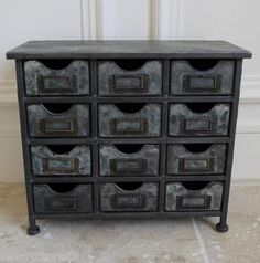 Vintage Industrial Metal Cabinet with 12 Drawers Retro style Storage Furniture