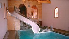 Toboggan pour piscine d'intérieur - Tobbogan piscine - Techni-Contact