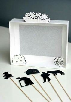 6 Boredom-Busting Crafts for the Entire Family ⋆ Handmade Charlotte DIY Shadow Box Puppet Theater<br> A handful of original DIY ideas to keep kids easily entertained and inspired over a free weekend. Kids Crafts, Projects For Kids, Diy For Kids, Diy And Crafts, Craft Projects, Paper Crafts, Paper Toys, Shadow Theatre, Puppet Theatre