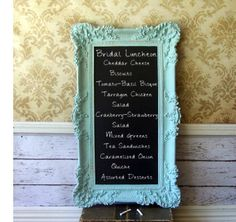 (going along with the refurbished chalkboard idea from @Jessica Garvin) They have these on @Etsy too but they're super expensive... Shabby Chic Blue Mirror /Chalkboard Beach by smallVintageAffair #birthdaywish