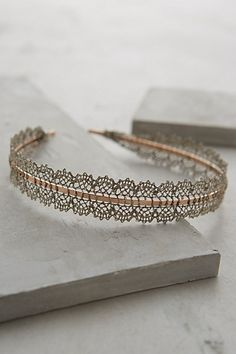 lace filigree #headband #anthrofave #winterwardrobe