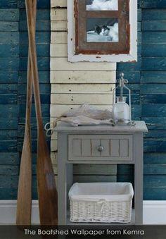 The Boatshed Wallpaper from Kemra - Patternsnap Blog, 'Scrap that!'.