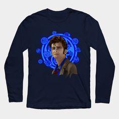 10th Doctor Digital Art Long Sleeve T-Shirt #teepublic #tee #tshirt #longsleeve #clothing #doctorwho #10thdoctor #davidtennant #tardis #summer #tenthdoctor #halloween #vangogh #starrynight #mist #fog