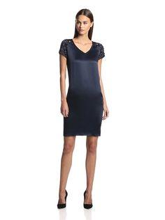 Magaschoni Women's Charmeuse Dress with Beaded Sleeves, http://www.myhabit.com/redirect/ref=qd_sw_dp_pi_li?url=http%3A%2F%2Fwww.myhabit.com%2Fdp%2FB00CTJELAK