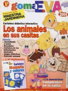 Artesanato com amor...by Lu Guimarães: Goma Eva 2004 Animais e suas casas