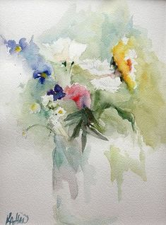 watercolor art floral