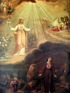 The soul in state of Grace and a soul in mortal sin. Jesus Mother, Blessed Mother, Mother Mary, Catholic Pictures, Jesus Pictures, Catholic Art, Religious Art, Immaculée Conception, Madonna