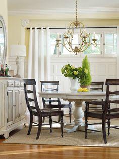 white table dark chairs