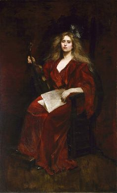 Natalie with Violin by Alice Pike Barney / American Art