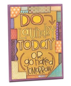 Another great find on #zulily! 'Do Laundry' Mom's Rules Wall Art #zulilyfinds