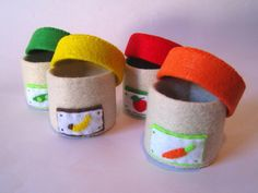 Felt Food baby food container jar