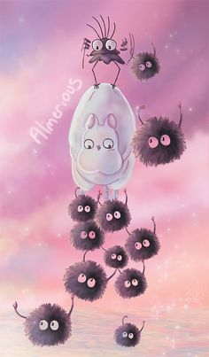 Flying fluff balls by Almerious on DeviantArt FOLLOW Unicorn Glow Instagram - @tunikatalks_ 2nd pinterest- LilacCryBaby