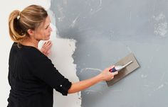 How to paint a concrete-look wall