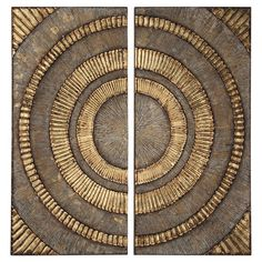 Add an artful touch to your foyer or entryway with this captivating metal wall decor, showcasing an abstract circular motif. Product: Set of 2 wall decorConstruction Material: MetalColor: BrownFeatures: Abstract circular motifDimensions: H x W each Wall Decor Set, Metal Wall Decor, Wall Art Sets, Contemporary Metal Wall Art, Deco Paint, Kings Home, Creative Arts And Crafts, Condo Design, Neutral Walls