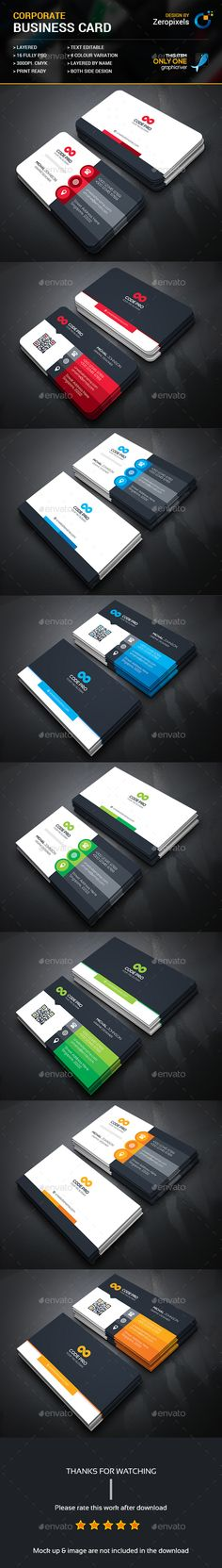 Corporate Business Card Bundle — Photoshop PSD #logo #bundle • Available here → https://graphicriver.net/item/corporate-business-card-bundle/18038969?ref=pxcr