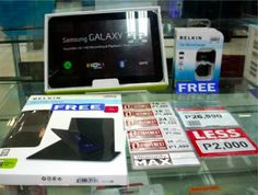 Promo alert (Philippines)! Samsung Galaxy Tab 8.9 for as low as P1,124.58 a month