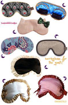 Savasana Sleep Masks (yoga style collection) :  via @namastilo  www.namastilo.com  Oh yeah, do your savasana in style and comfort!