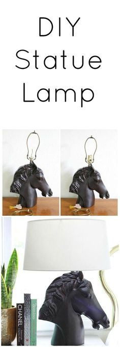 DIY Statue Lamp - a high end look on a low end budget!