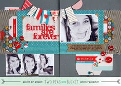 In-site-full: 2Peas Project: Families Are Forever (double-page spread). http://jengallacher.blogspot.com/