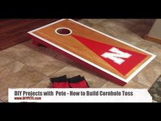 DIY Pete walks you through the process of building a cornhole board game set. DIY PETE has a video and Cornhole Board Plans to help you with the project! Cornhole Board Plans, Diy Projects Plans, Wood Projects, Yard Games, Summer Diy, Easy Diy, Woodworking, Wooden Projects, Joinery