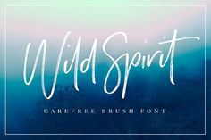 Wild Spirit Font by Sam Parrett on @creativemarket A carefree and untamed brush font with a natural flow. Handmade with long organic strokes,