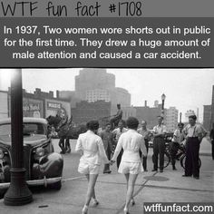 The first girls to wear shorts in public -WTF fun facts -- Fashion history!