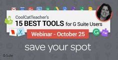 If you only used 15 tools in Google Docs and Apps, what would they be? Don't be overwhelmed with all the choices.  I can help. In this free masterclass, I'm going to share my 15 Best G suite tools for Schools and how to use them in the classroom. Join me on October 25 at 4pm […]