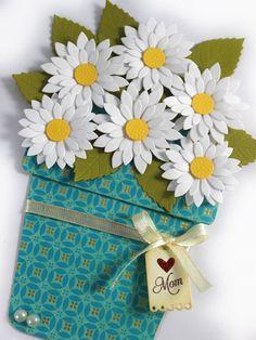 Flower Pot Card Mother's Day card Flower pot by CardamomsArt