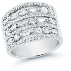 Ivanka Trump Mixed Cut Diamond Wide Band Ring