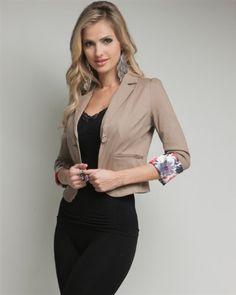 G2 Chic Floral Cuff Blazer Jacket $14.93