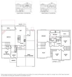 View Floor Plan : Albany 2317 : CBH Homes