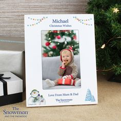 This The Snowman and the Snowdog frame as a great way to commemorate baby's first Christmas. This frame can be personalised with a message over 3 lines of text, with up to 20 characters per line. Michael Christmas, Babies First Christmas, 1st Christmas, Christmas Wishes, Christmas Photos, Christmas Themes, 6x4 Photo Frames, Snowman And The Snowdog, Personalized Christmas Gifts
