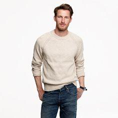 Chunky cotton crewneck sweater