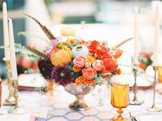 Purples - Pinks - Corals - Colorful Bohemian Wedding Inspiration