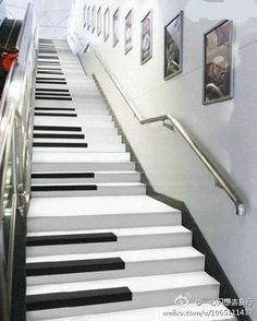 At Wulin Plaza in Hangzhou, China they've installed 54 piano steps that play a different note as you step on them allowing you to play a melody as you walk up and down the stairs