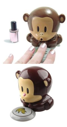 monkey nail dryer I want this!! Too cute!!