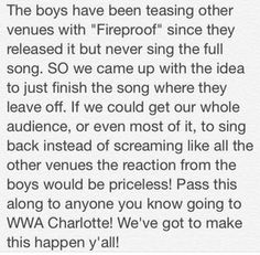 The concert I went to was a few days ago but if you still haven't gone please do this! (:
